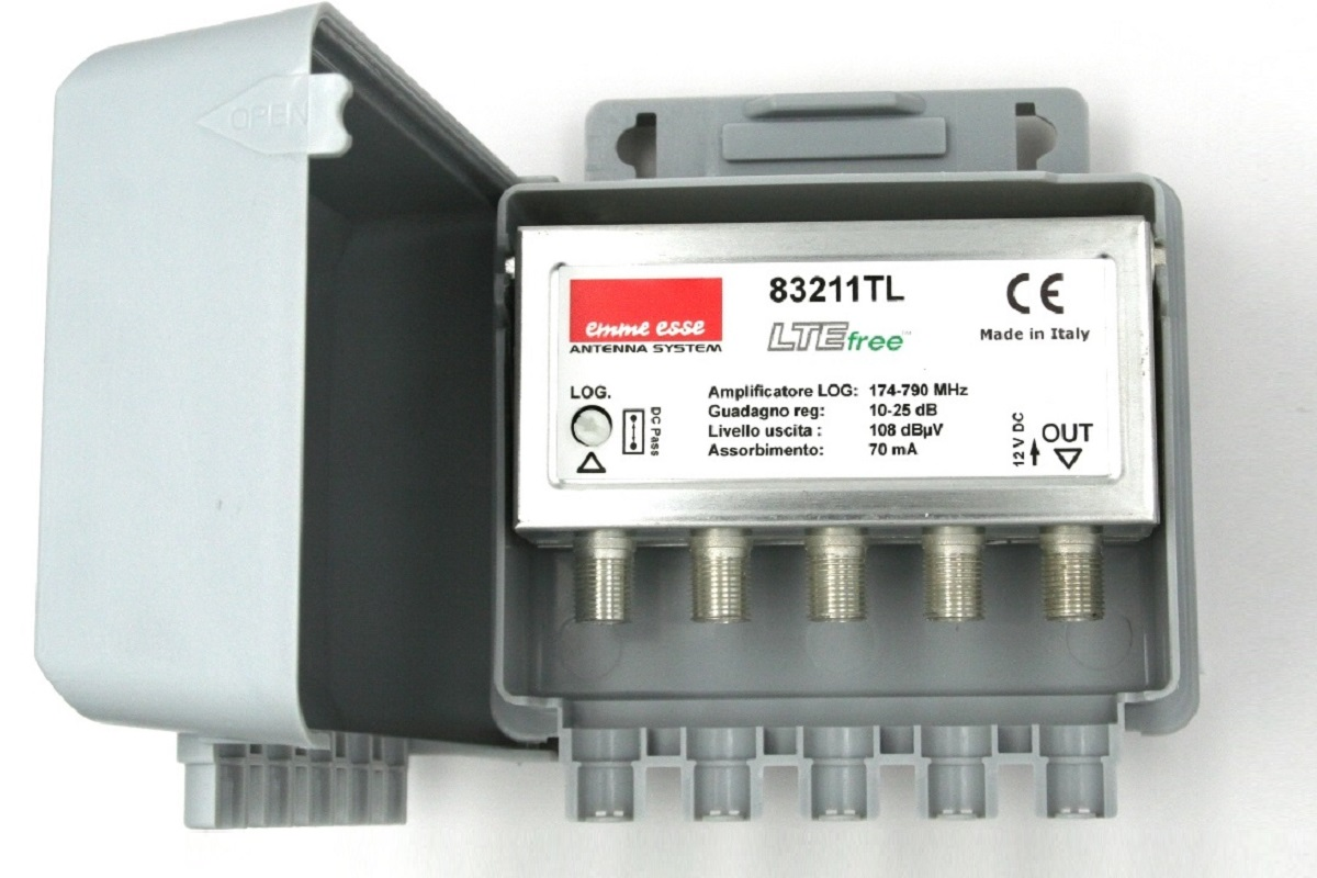 AMPL.1ENT.LB 20DB REG.+C.C.CH.5-60