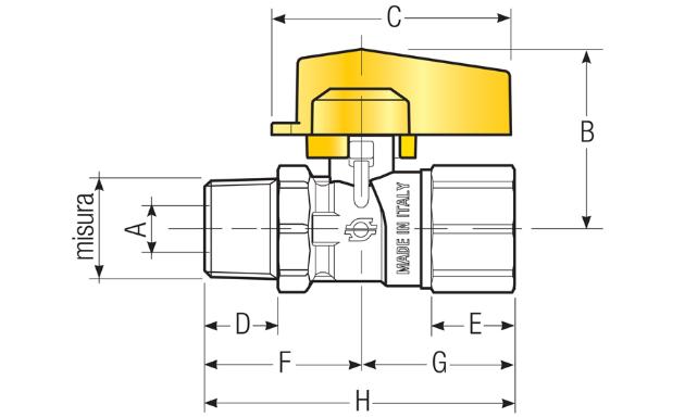 "RUB.NORM-GAS DR. M-F 1/2"" ISO 7/1"